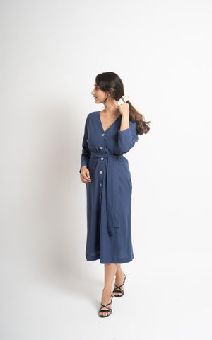 The Shrug Dress (Blue)