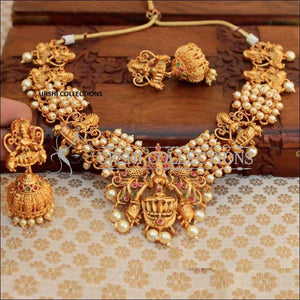Bahubali Temple Necklace Set - Necklace Set