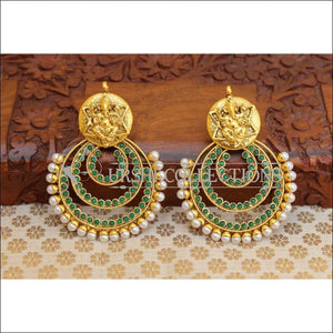 Beautiful Designer Earrings Set UC-NEW851 - Green - Earrings