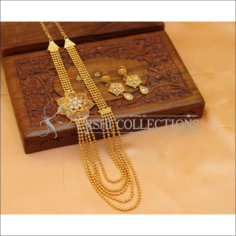 Beautiful Designer Gold Plated Necklace Set UC-NEW519 - Necklace Set