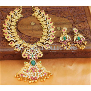Beautiful Designer Gold Plated Necklace Set UC-NEW820 - Necklace Set