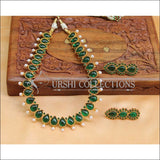 Beautiful Designer Kempu Necklace Set UC-NEW718 - Green - Necklace Set