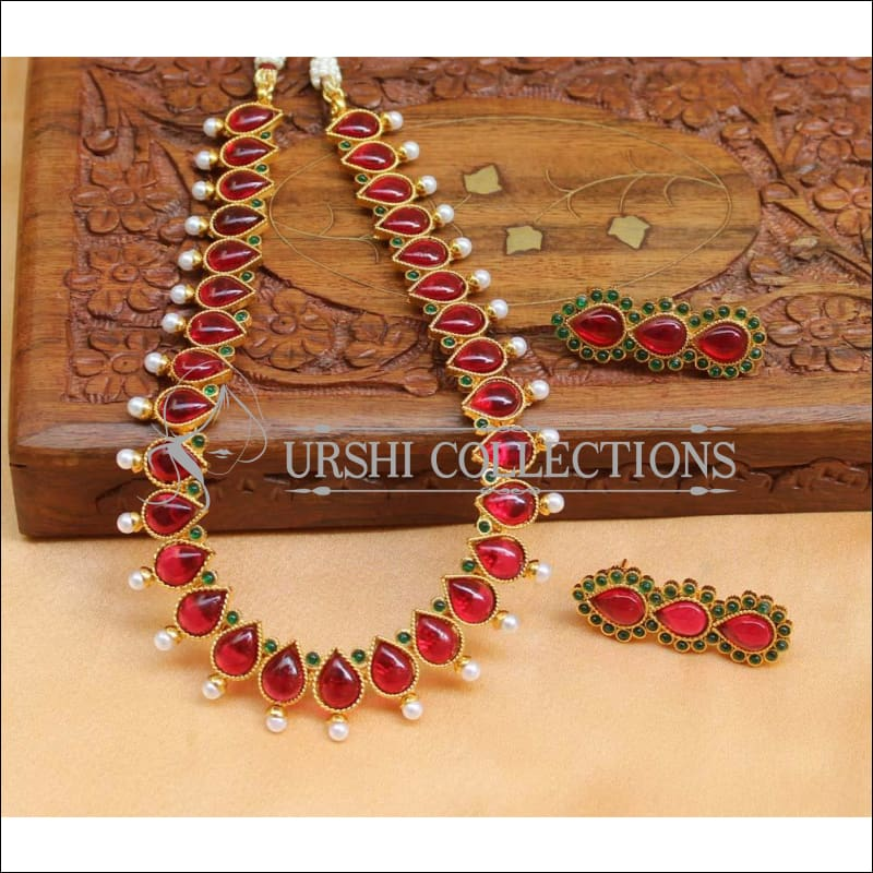 Beautiful Designer Kempu Necklace Set UC-NEW718 - Multi - Necklace Set