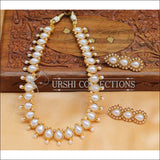 Beautiful Designer Kempu Necklace Set UC-NEW718 - White - Necklace Set