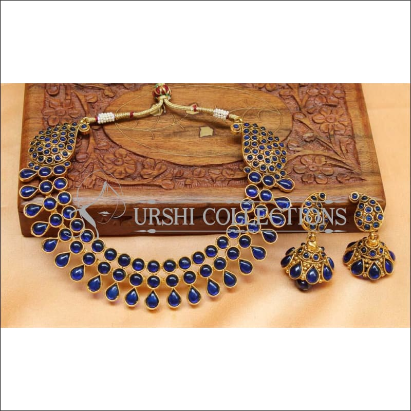 Beautiful Designer Kempu Necklace Set UC-NEW730 - Necklace Set