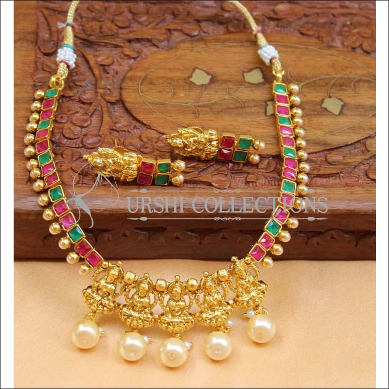 Beautiful Designer Lakshmi Necklace Set UC-NEW747 - Multi - Necklace Set