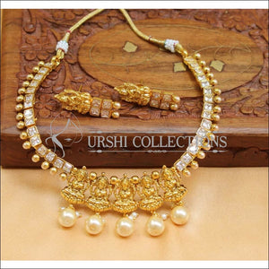Beautiful Designer Lakshmi Necklace Set UC-NEW747 - White - Necklace Set