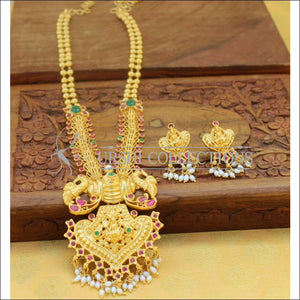 Beautiful Designer Peacock Necklace Set UC-NEW954 - Necklace Set