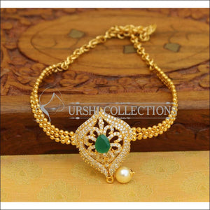 Beautiful Gold Plated CZ Bajuband UC-NEW960 - Green - BAJUBAND