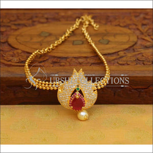 Beautiful Gold Plated CZ Bajuband UC-NEW964 - Ruby - BAJUBAND