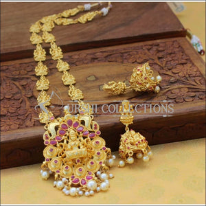 Beautiful Gold Plated Lakshmi Necklace Set UC-NEW940 - Necklace Set