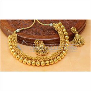 Beautiful Gold Plated Necklace Set UC-NEW1496 - Necklace Set