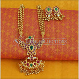 Beautiful Gold Plated Peacock Necklace Set UC-NEW945 - Necklace Set
