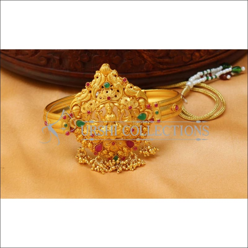 Beautiful Gold Plated Temple Bajuband Uc New2492 Urshi Collections