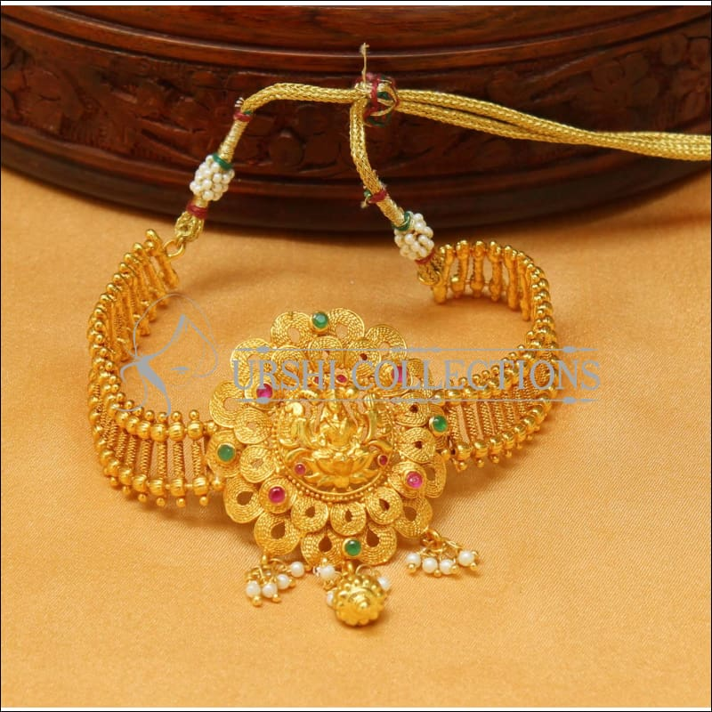 Beautiful Gold Plated Temple Bajuband Uc New2495 Urshi Collections