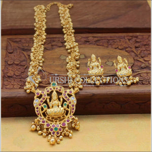 Beautiful Gold Plated Temple Necklace Set UC-NEW955 - Necklace Set
