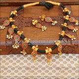 Black Thread Traditional Mango Designer Necklace Set - Multi - Necklace Set