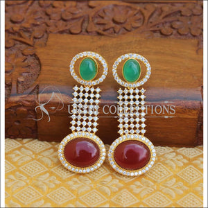 CZ DESIGNER EARRINGS UTV238 - Earrings