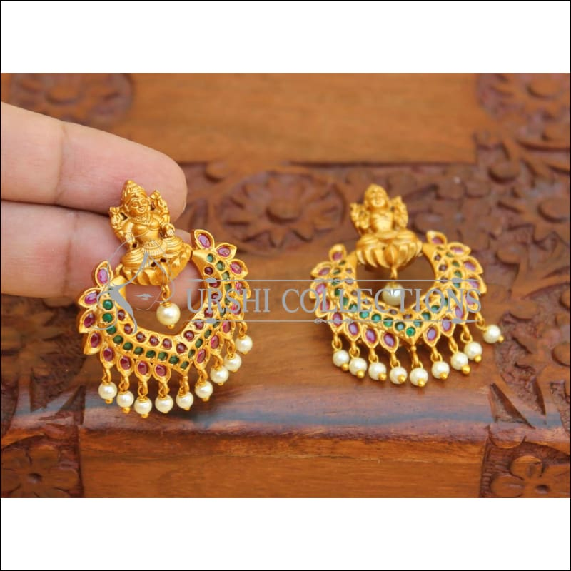 Designer Antique Lakshmi Earrings Set UC-NEW2147 - Earrings