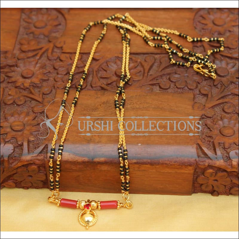 DESIGNER BLACK BEAD NECKLACE SET UC-NEW2899 - Mangalsutra