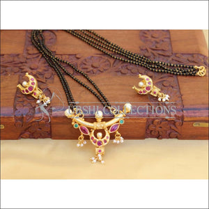 DESIGNER BLACK BEAD NECKLACE SET UC-NEW3090 - Mangalsutra