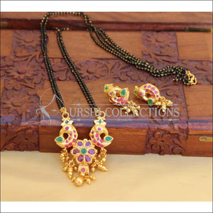 DESIGNER BLACK BEAD NECKLACE SET UC-NEW3091 - Mangalsutra