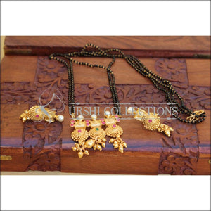 DESIGNER BLACK BEAD NECKLACE SET UC-NEW3093 - Mangalsutra