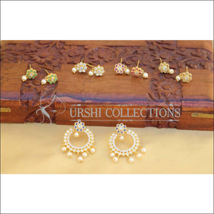 DESIGNER CZ CHANGABLE EARRINGS UTV699 - Earrings
