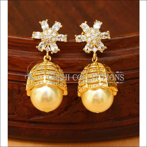 Designer CZ Earrings Set UC-NEW1436 - White - Earrings