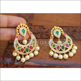 Designer CZ Earrings Set UC-NEW2129 - Green&Red - Earrings
