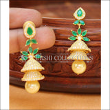 Designer CZ Earrings Set UC-NEW2247 - Green - Earrings