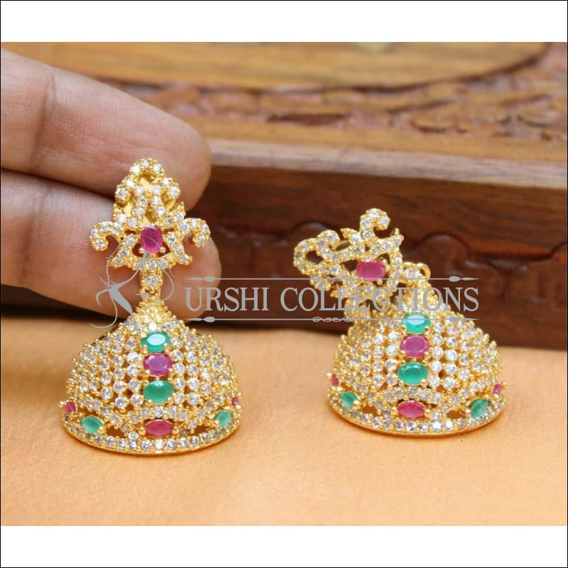 Designer CZ Earrings UC-NEW233 - Multi - Earrings