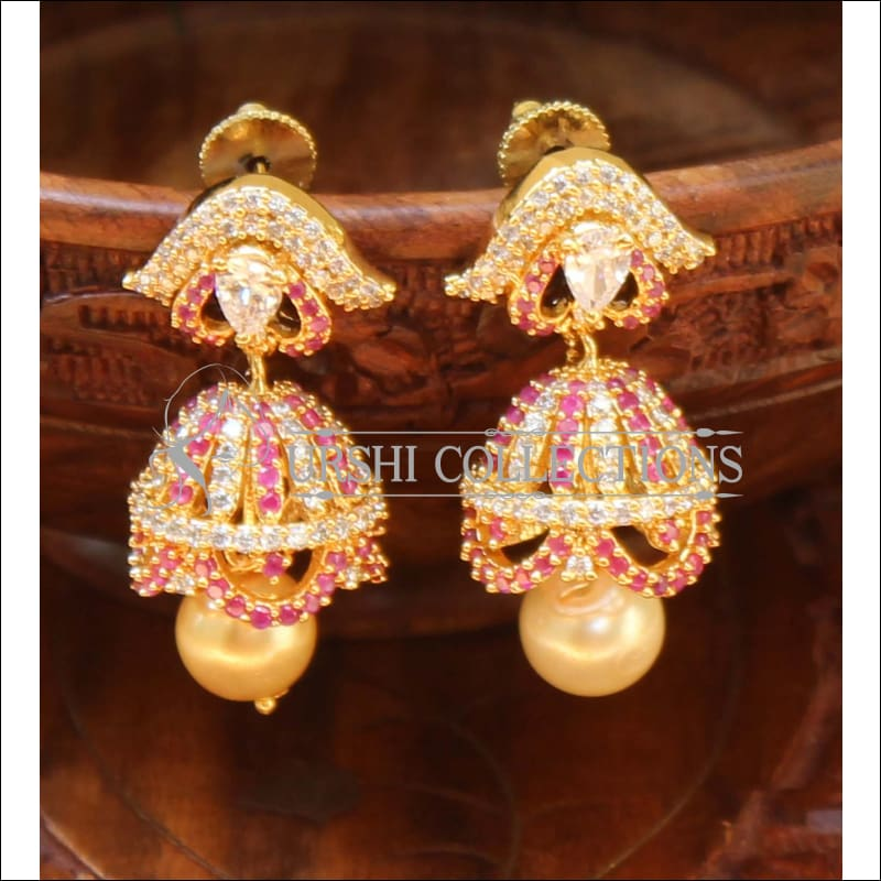Designer CZ Earrings UC-NEW482 - Multi - Earrings