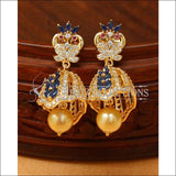 Designer CZ Earrings UC-NEW486 - Blue - Earrings