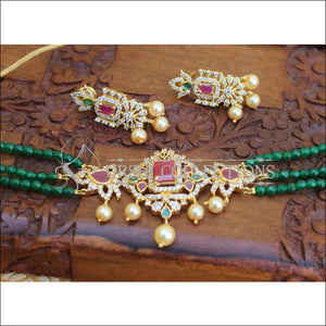 DESIGNER CZ HANDMADE NECKLACE SET UTV235 - Necklace Set
