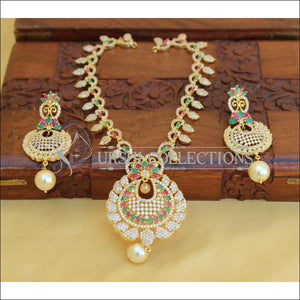 DESIGNER CZ JEWELLERY NECKLACE SET UC-NEW3233 - Multi - Necklace Set
