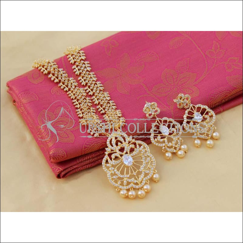 Designer CZ Necklace Set UC-NEW1892 - White - Necklace Set