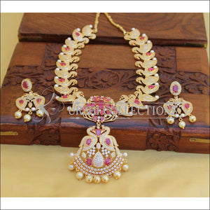 DESIGNER CZ NECKLACE SET UC-NEW2904 - Necklace Set