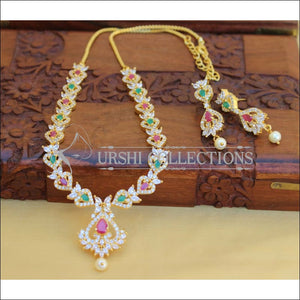 DESIGNER CZ NECKLACE SET UC-NEW2933 - MULTI - Necklace Set