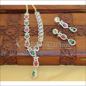 DESIGNER CZ NECKLACE SET UC-NEW3006 - Necklace Set
