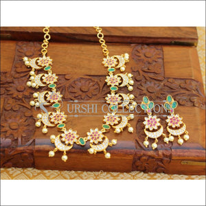 DESIGNER CZ NECKLACE SET UC-NEW3342 - Necklace Set