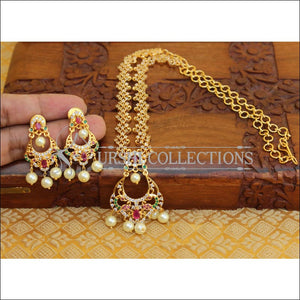 DESIGNER CZ PEACOCK NECKLACE SET UC-NEW3343 - Necklace Set