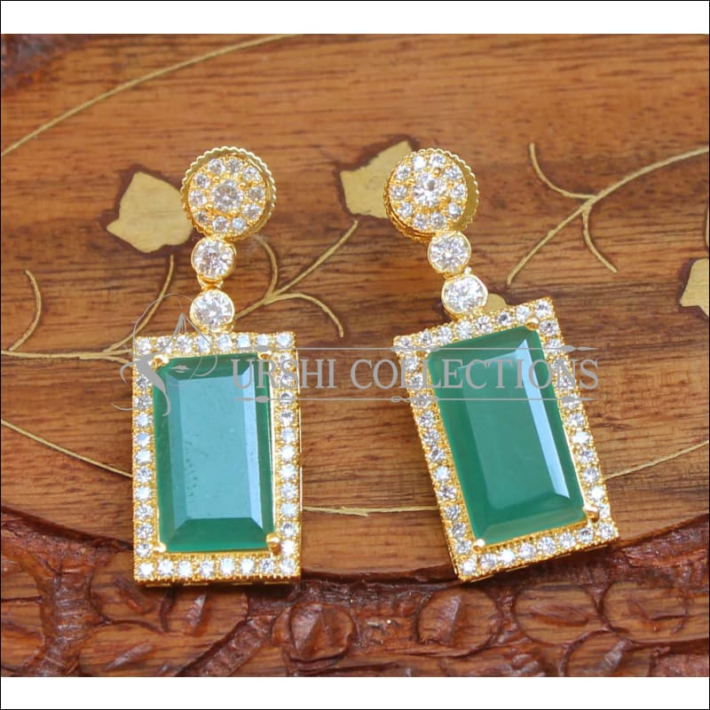 Designer Earrings Set UC-NEW670 - Green - Earrings