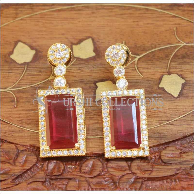 Designer Earrings Set UC-NEW670 - Red - Earrings