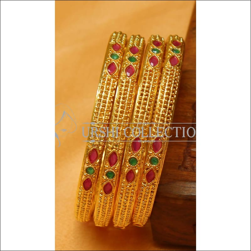 Designer Gold Plated Bangle Set UC-NEW2394 - 2.4 / Multy - Bangles