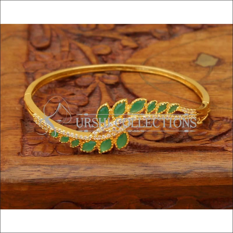 Designer Gold Plated Bracelet UC-NEW1695 - Green - Bracelets