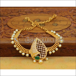 Designer Gold Plated CZ Bajuband UC-NEW962 - Green - BAJUBAND