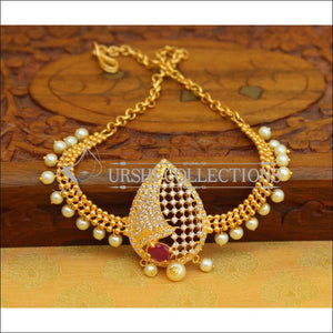 Designer Gold Plated CZ Bajuband UC-NEW962 - Ruby - BAJUBAND