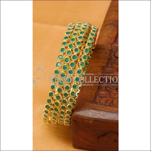 Designer Gold Plated CZ Bangle Set UC-NEW2353 - 2.4 - Bangles