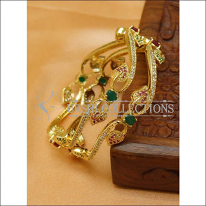 Designer Gold Plated CZ Bangle Set UC-NEW2421 - 2.4 - Bangles